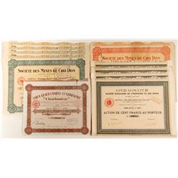 Indumine & Societe Des Mines De Cho Don Mining Bond Certificates  #81823