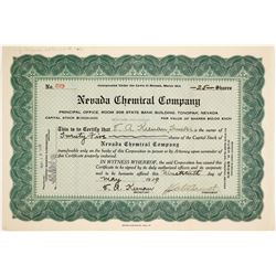 Nevada Chemical Company stock  #81865