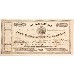 Pacific Jute Manufacturing Company Stock  #90461