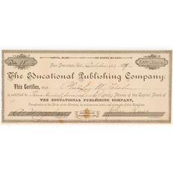 Educational Publishing Company Stock Certificate  #103477