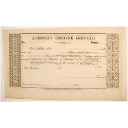Gold Rush Theater Stock Certificate  #89400