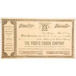 Pacific Ensign Company Stock - Another Company Incorporated and Run by Women   #90462