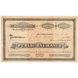 Public Exchange (Company) Stock Certificate (Stock Exchange)  #104401