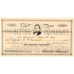 The Blythe Company Stock Certificate  #100752
