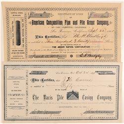 Two Piling Company Stocks  #102318