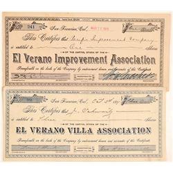 El Verano Improvement Association Stock  #103540