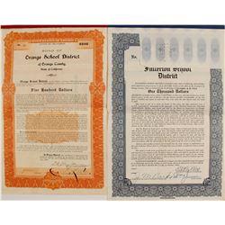 California School Bonds (2) Orange School District; Fullerton School District  #76265