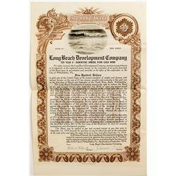 Long Beach Development Company Stock Certificate  #52673