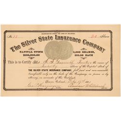 Silver State Insurance Co. Stock Certificate w/ Morgan Dollar Vignettes  #104312