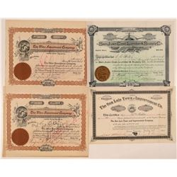 Four 1890s Colorado Stock Certificates (Non-Mining)  #107664