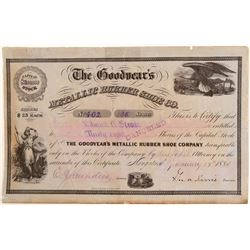 Goodyear's Metallic Rubber Shoe Co. Stock Certificate  #103474