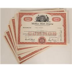 Stock Certificates / Waltham Watch Company / 44 Items.   #109900