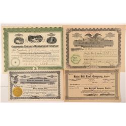 Hawaii Land Investment Company Stock Certificates  #107306