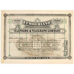 Cumberland Telephone & Telegraph Stock Certificates  #79070