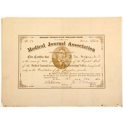 Medical Journal Association of the Mississippi Valley Stock Certificate  #60255