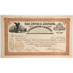 Butte & Montana Commercial Company Stock  #90413