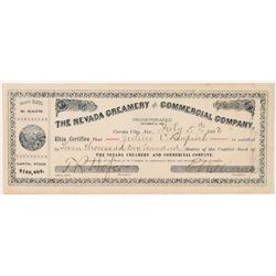 Nevada Creamery & Commercial Co. Stock Certificate  #103476