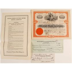 Gibraltar Mines Syndicate Stock Certificate  #78562