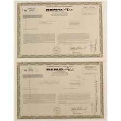 Reno Air Stock Warrants (2)  #90583