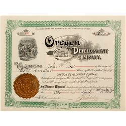 Oregon Development Co. Stock  #72049