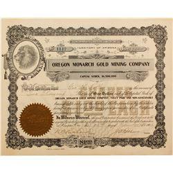 Oregon Monarch Gold Mining Stock  #72059