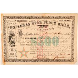 Texas Star Flour Mills Stock Certificate  #101564
