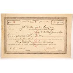 J. C. Weeter Lumber Company Stock  #86720