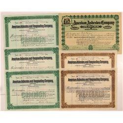 Virginia Asbestos Stock Certificates  #107333