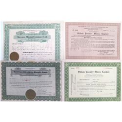 British Columbia / Alaska Border Mining Stock Certificates  #60481