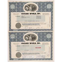 Caesars World, Inc. Stock Certificates  #104258