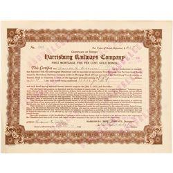 Harrisburg Railways Co 1st Mortgage 5% Gold Bond  #106185