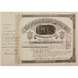 Plymouth Rock Mining Co. Stock  #72046