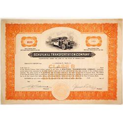 Schuylkill Transporation Stock  #79834
