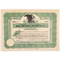 Smith Brothers, Inc. Employees Certificate  #106301