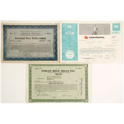 Three Stock Certificates with Coin Themes  #60047