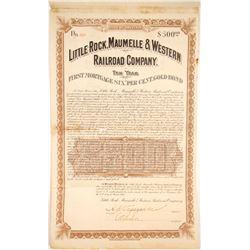 Little Rock, Maumelle & Western Railroad Bond  #84947