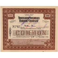 Tidewater Southern Railway Company Stock Certificate  #107624