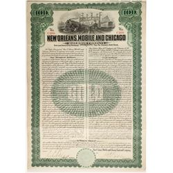 New Orleans Mobile and Chicago Railroad Co bond  #87033