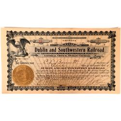 Dublin and Southwestern Railroad Stock, Georgia, 1905  #110301