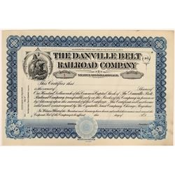 The Danville Belt Railroad Company Stock Certificate #1  #110314