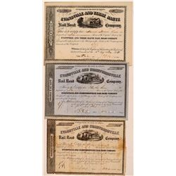 Evansville & Crawfordsville Railroad Co. Stock Certificates  #107654