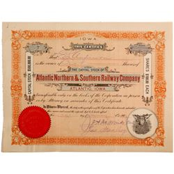 Atlantic Northern & Southern Railway Co.  #82927