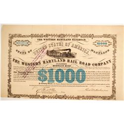 The Western Maryland RailroadCo Bond  #86960