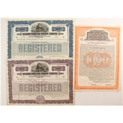 Western Maryland Railway Co Bonds (3)  #86976