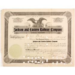 Jackson and Eastern Railway Co. Stock  #83229