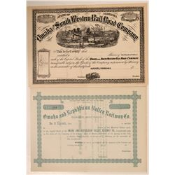Nebraska Railroad Stocks  #106162