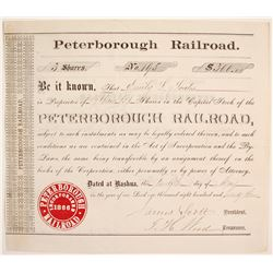 Peterborough Railroad Stock  #84250