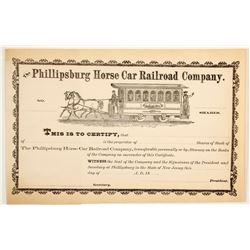 Phillipsburg Horse Car Railroad Co  #83815