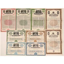 Erie Railroad Co. Bonds/stocks  #106151