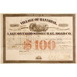 Lake Ontario Shore Rail Road Bond  #85116